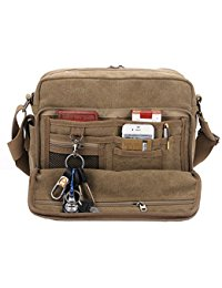 mens messenger bags classic multifunctional mens canvas messenger bag crossbody working field  bag NNXKGEY