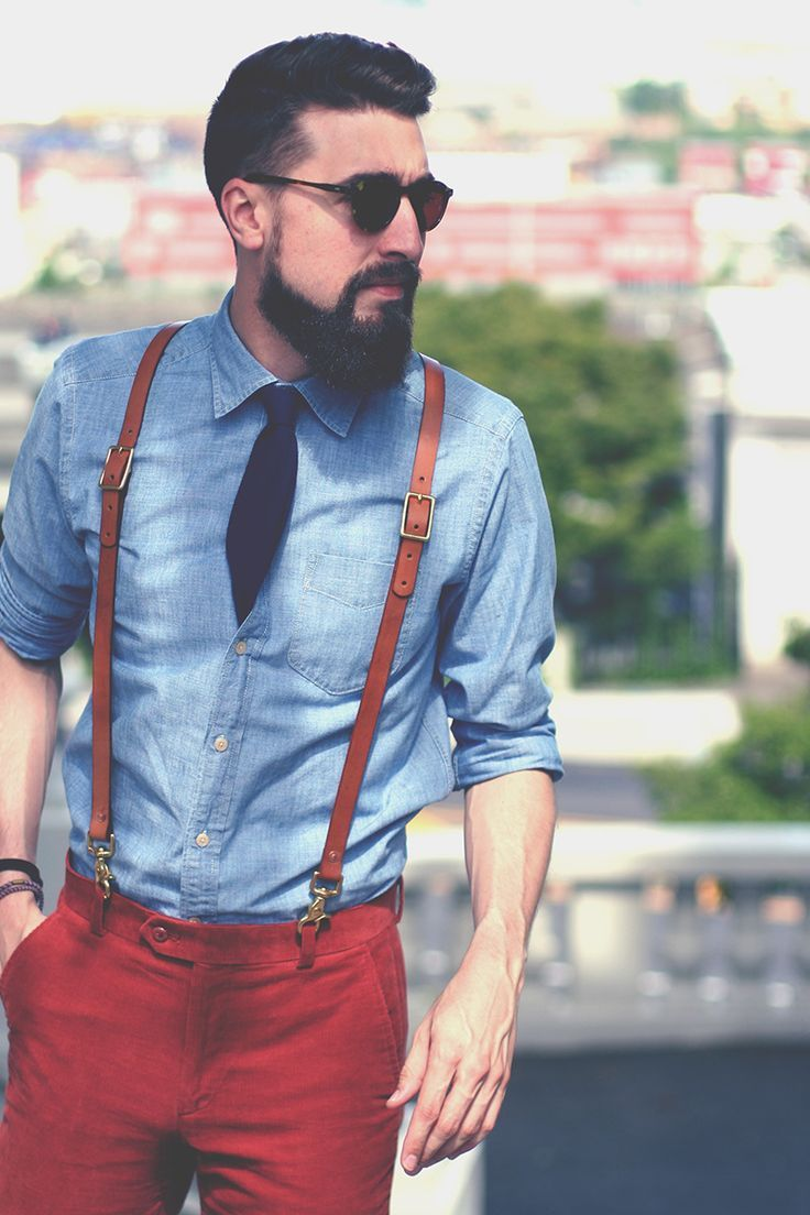 mens suspenders leather fashion 8 KCQOXJG