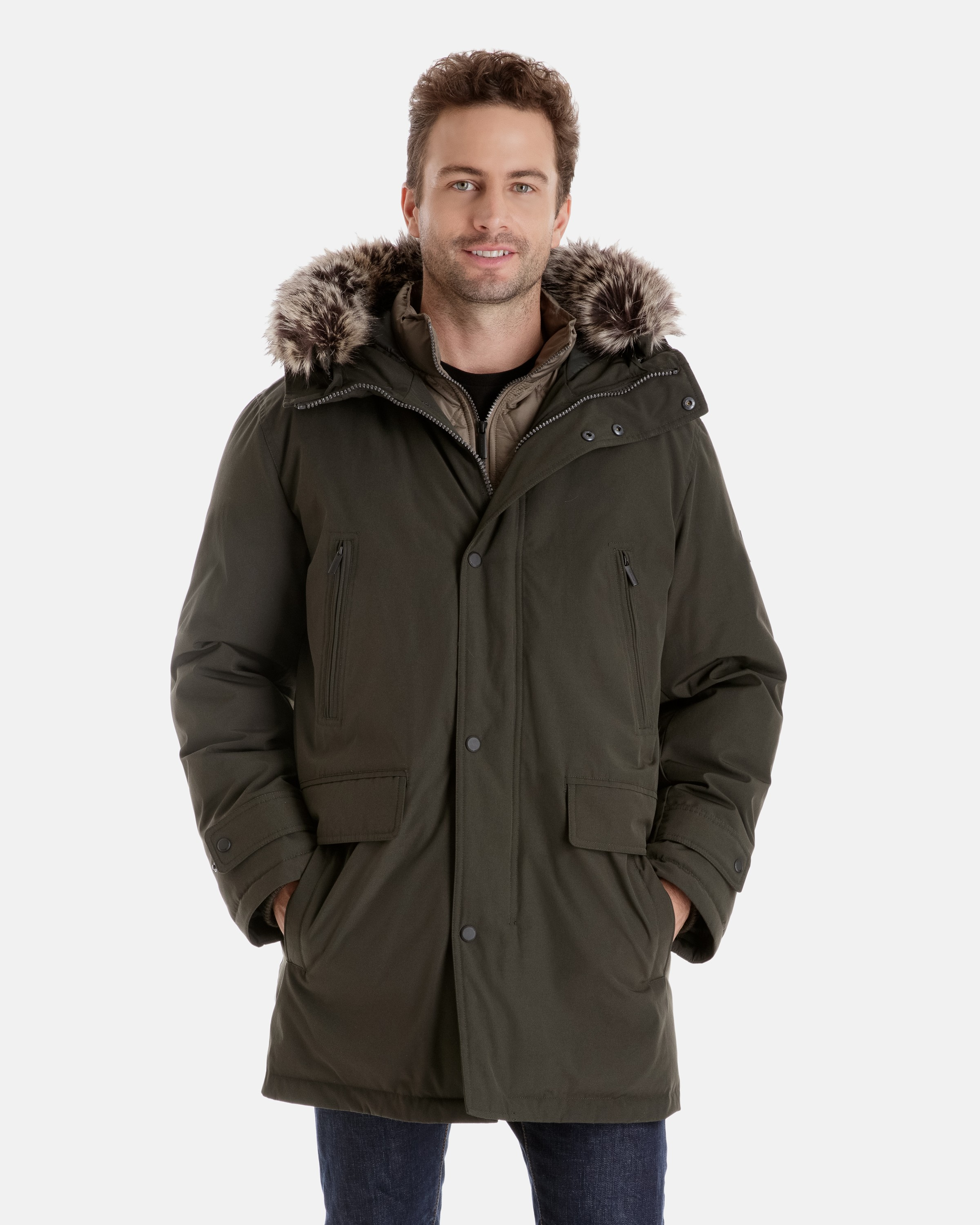 mens winter coats thomas insulated winter parka with inset bib NRYLPIN