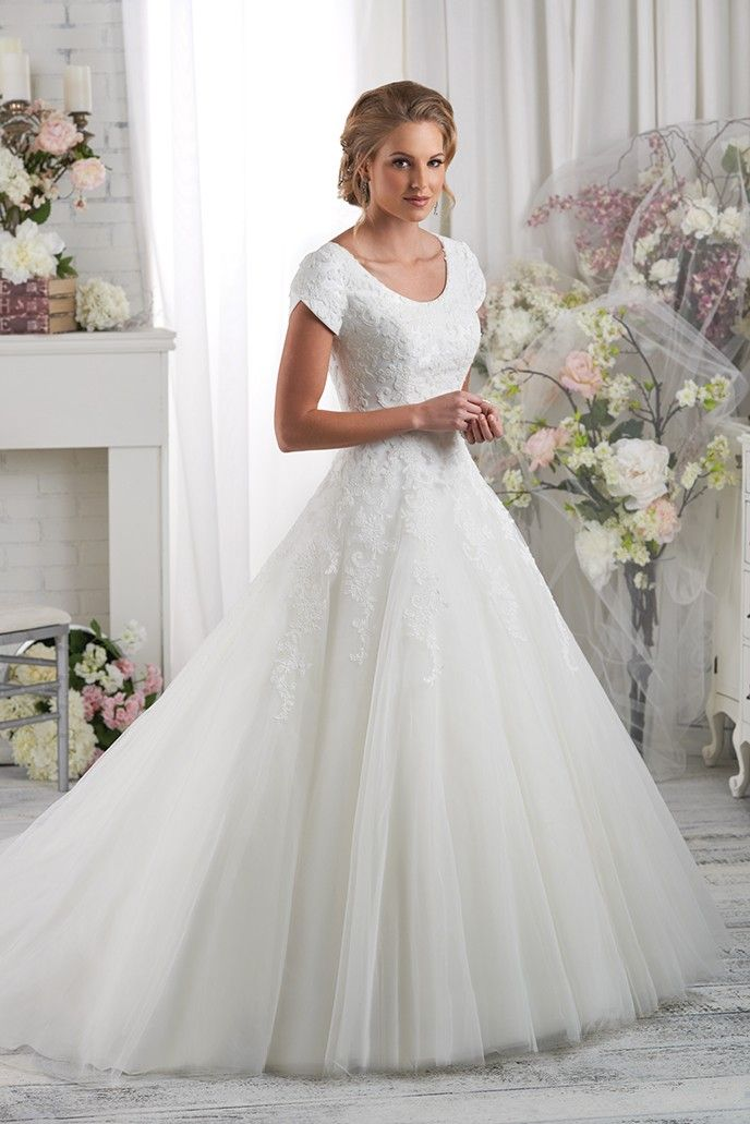 modest wedding dresses floral lace details the magnificent modest bodice of this ball gown. the  lace then YRMHUWD