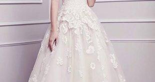 modest wedding dresses with pretty details IHLFSLO