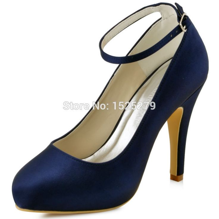 navy blue shoes new coler elegant women formal party pumps navy blue high heels wedding  platforms ankle PINEFVE