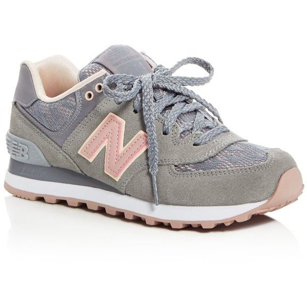 new balance womens shoes new balance 574 nouveau lace up sneakers ($85) ❤ liked on polyvore  featuring shoes LSOUYAG
