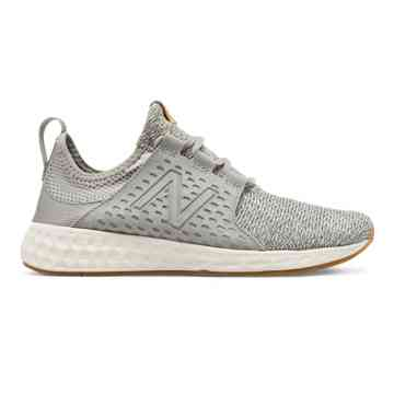 new balance womens shoes new balance fresh foam cruz, light grey with sea salt u0026 gum EOIEHPZ