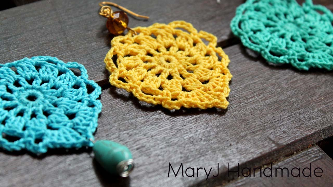 nice and easy crochet earrings | aqua LNDVMPS