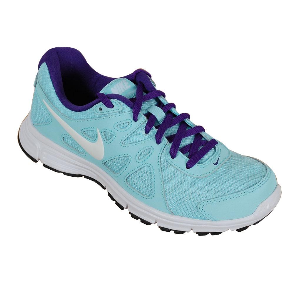 nike womenu0027s revolution 3 running trainers light blue ZXNSFFH
