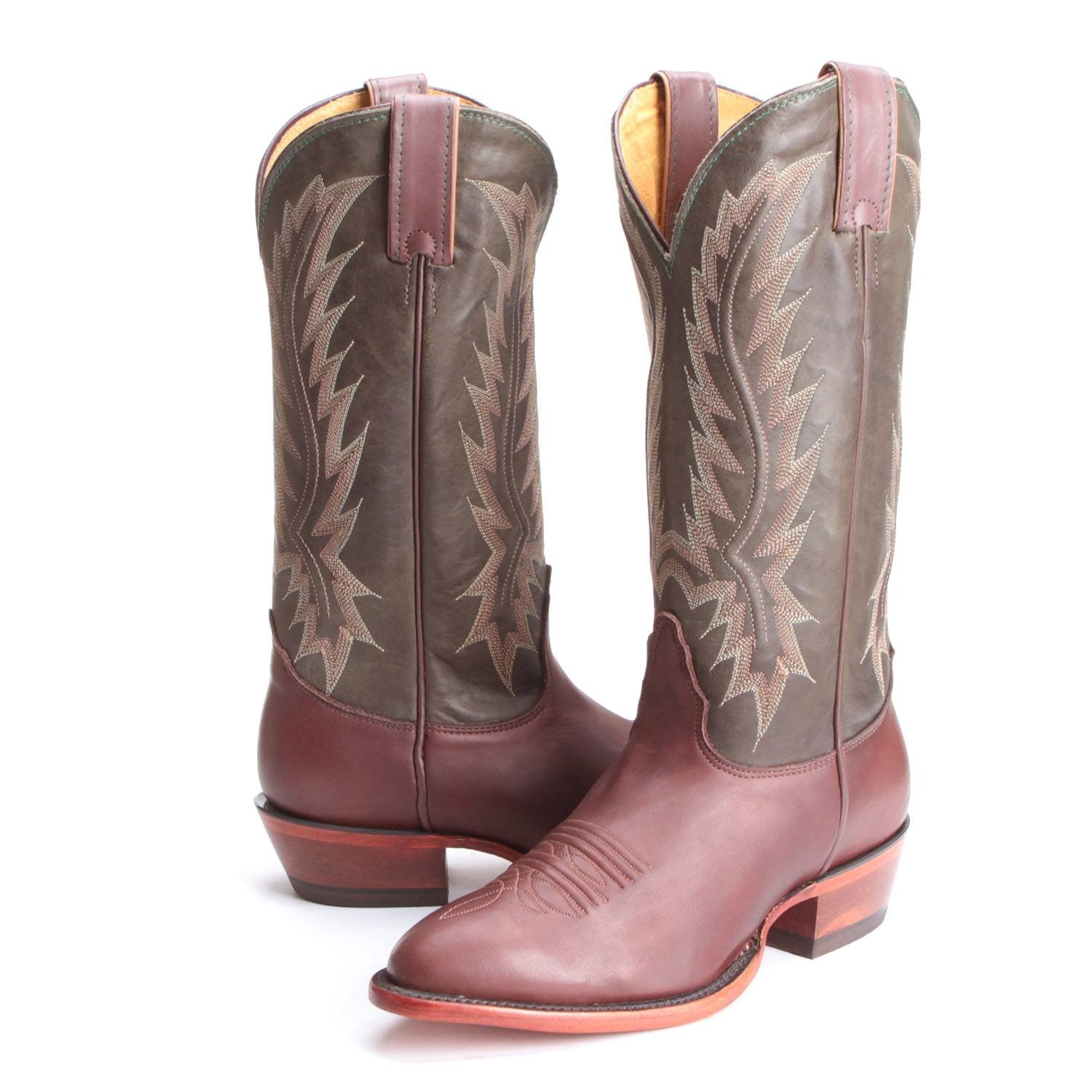 nocona boots pfi bootdaddy collection with nocona mens liga round toe cowboy boots  chocolate CXOLUTK
