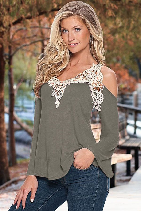 off the shoulder gray women going out tops BABIYQJ