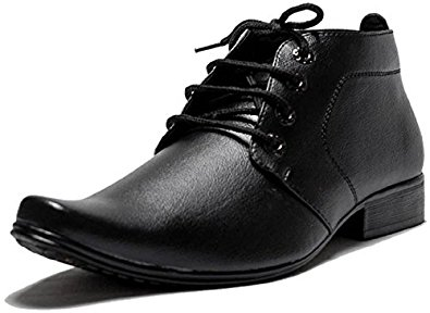 office shoes oora menu0027s black faux leather formal shoes -10 DQPUEKF