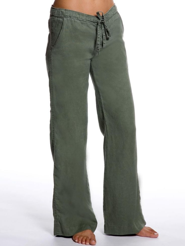 olive relaxed linen pants - green linen pants for women|island company WUMZYRJ