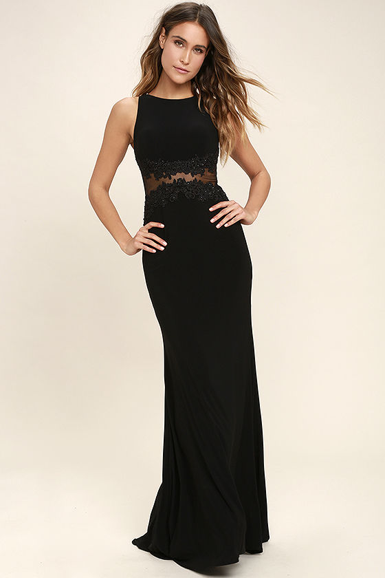 optimum elegance black lace maxi dress 1 TFMRVTE