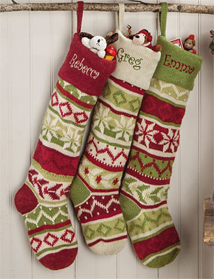 oversized knit christmas stockings LOTWPDU