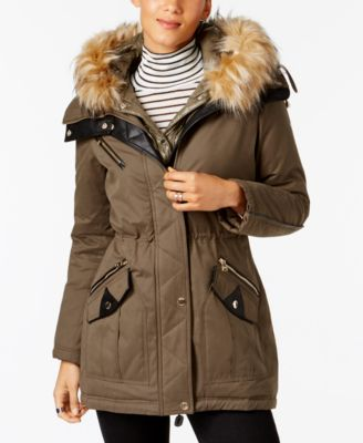 parka coats guess 2-in-1 mixed-media anorak, a macyu0027s exclusive JZJOTNH