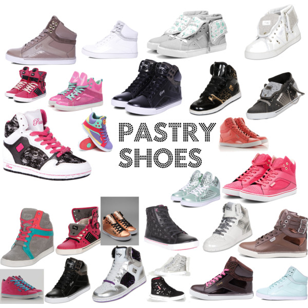 pastry shoes a fashion look from may 2013 featuring black sneakers, leather shoes and hi  tops. REAMOQK