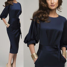 pencil dress elegant womens office formal business lady work party sheath tunic pencil  dress PIOEBDI