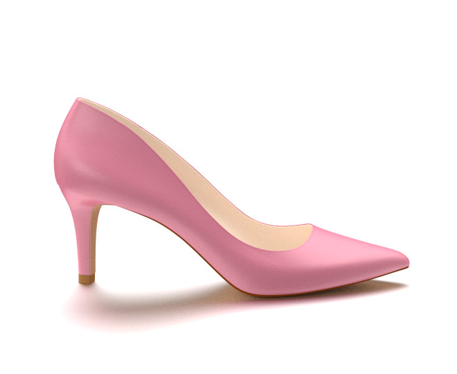 pink heels pointed toe three inch heels, pink soft leather XOPLKNY