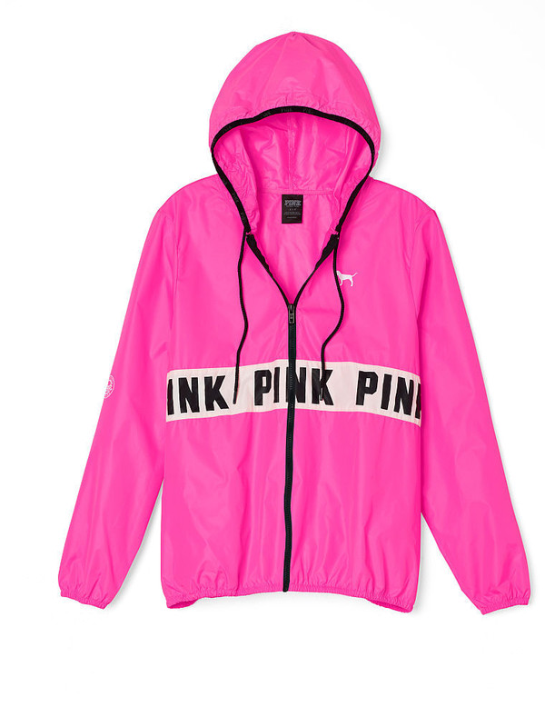 pink jacket jacket windbreaker victoriau0027s secret pink by victorias secret pink pink  windbreaker victoria secret jacket HBMZGIL