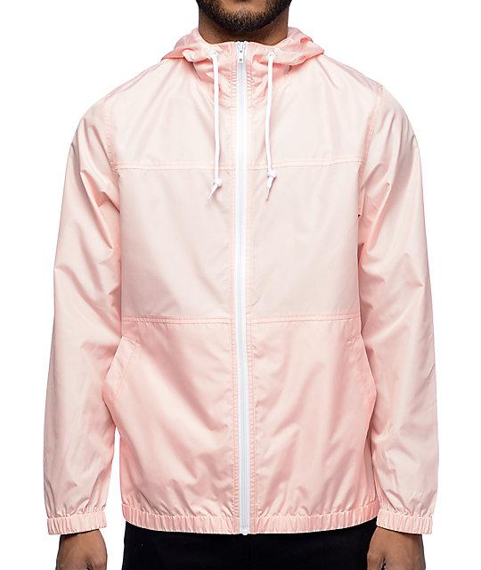 pink jacket zine marathon pink windbreaker jacket LQTYAPE