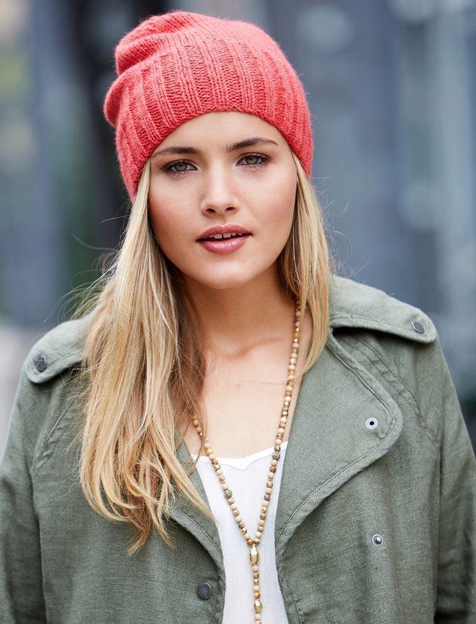 pink quick-knit beanie | allfreeknitting.com BTDJXUP