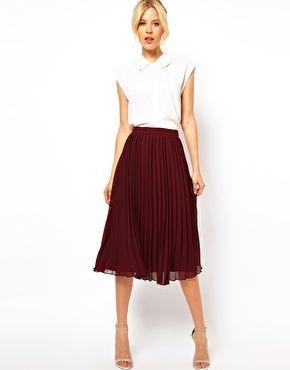 pleated midi skirt asos midi skirt with pleats - in the regular MJJHPLG