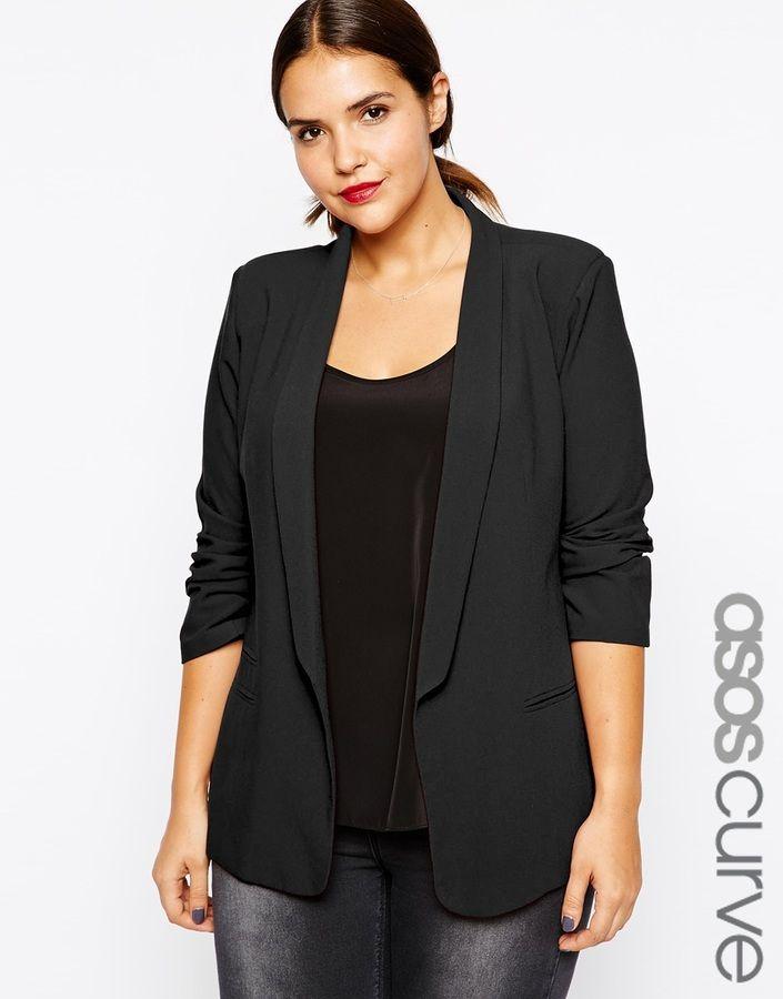 plus size blazers plus size blazer - love the slim lapel (perfect for dressy nights)! PNWYVYB
