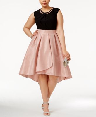 plus size dress sl fashions plus size embellished fit u0026 flare dress NWGTNVN