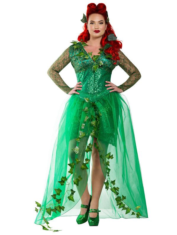 plus size halloween costumes check out womenu0027s sexy curvy ivyu0027s poison costume - sexy plus size  halloween costumes QPAAAHU