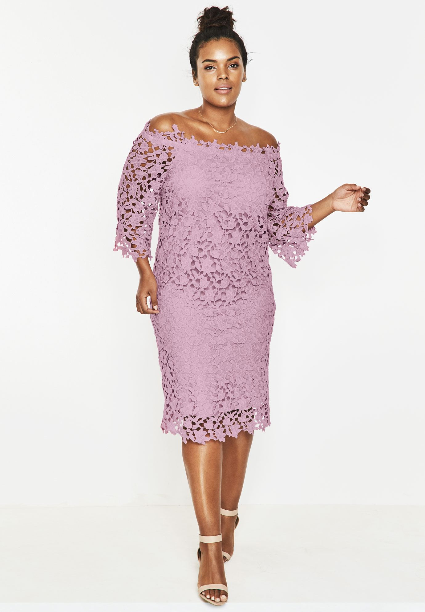 plus size special occasion dresses lace off the shoulder dress FBOLZYR