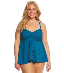 plus size tankini clubswim couture plus size twist underwire flyaway tankini top TGXDBFG