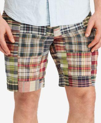 polo ralph lauren menu0027s big and tall madras plaid shorts EVEUAIQ
