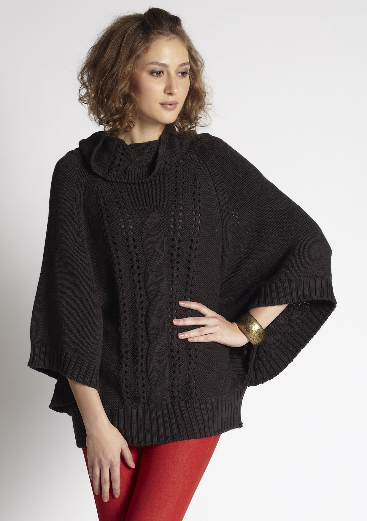 poncho sweater ... mothers-en-vogue-cable-knit-nursing-poncho-sweater- ... CEFQBJH