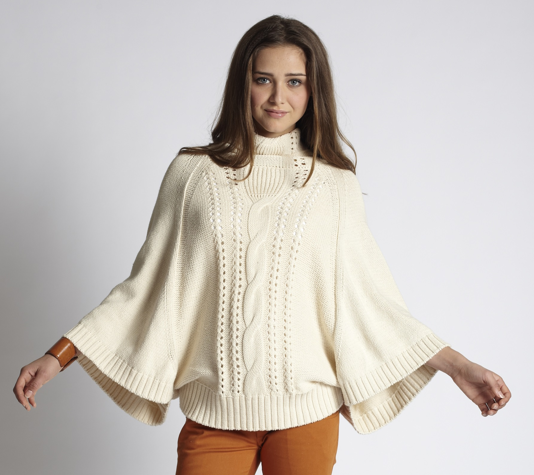 poncho sweater ... mothers-en-vogue-cable-knit-nursing-poncho-sweater- ... QHSKABE