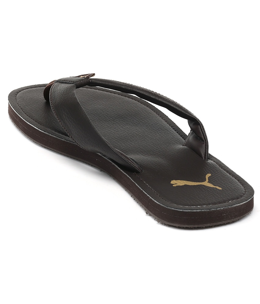 Puma slippers ... puma ketava dp brown slippers ... KJNLYWN