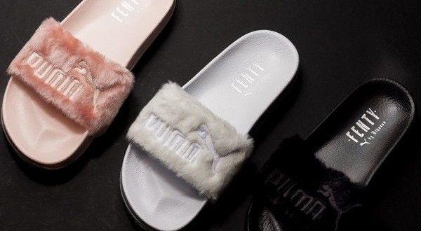 puma fluffy slippers
