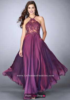 purple prom dresses la femme dress 23991 TLIALLY