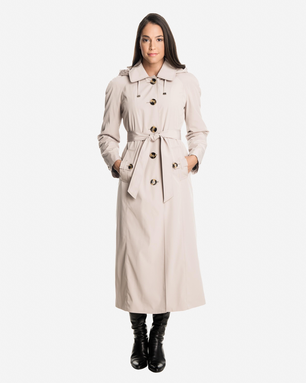 raincoats for women sophia long raincoat with detachable hood u0026 liner AVGNYBP