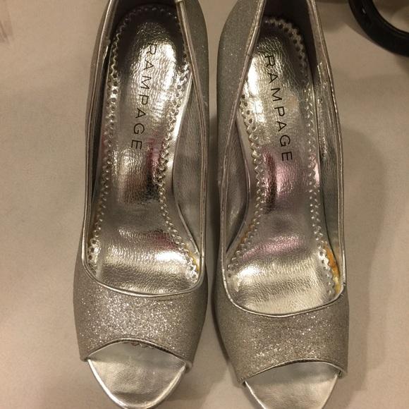 rampage shoes rampage size 8 silver glitter heels KBRIXJY