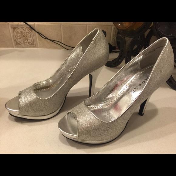 rampage shoes - rampage size 8 silver glitter heels ORCVYIK