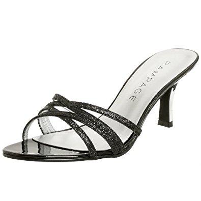 rampage shoes rampage womenu0027s frankie sandal,black glitter,5.5 m NKNQGPK