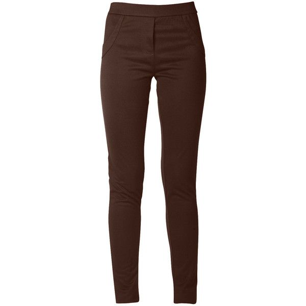 raxevsky marcia brown leggings ($42) ❤ liked on polyvore PVHQRDD