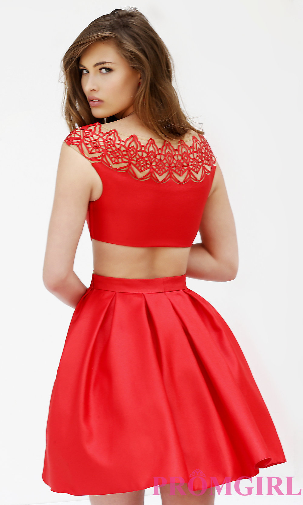 red cocktail dress hover to zoom ANIGQNY