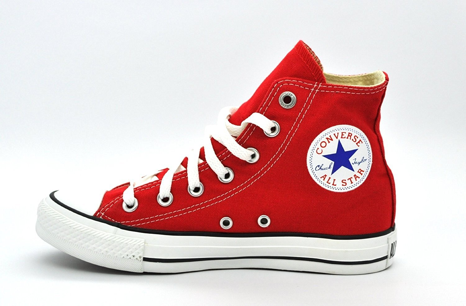 red converse amazon.com | converse unisex high top sneakers red m9621 9.5 | fashion  sneakers QNKYDVO