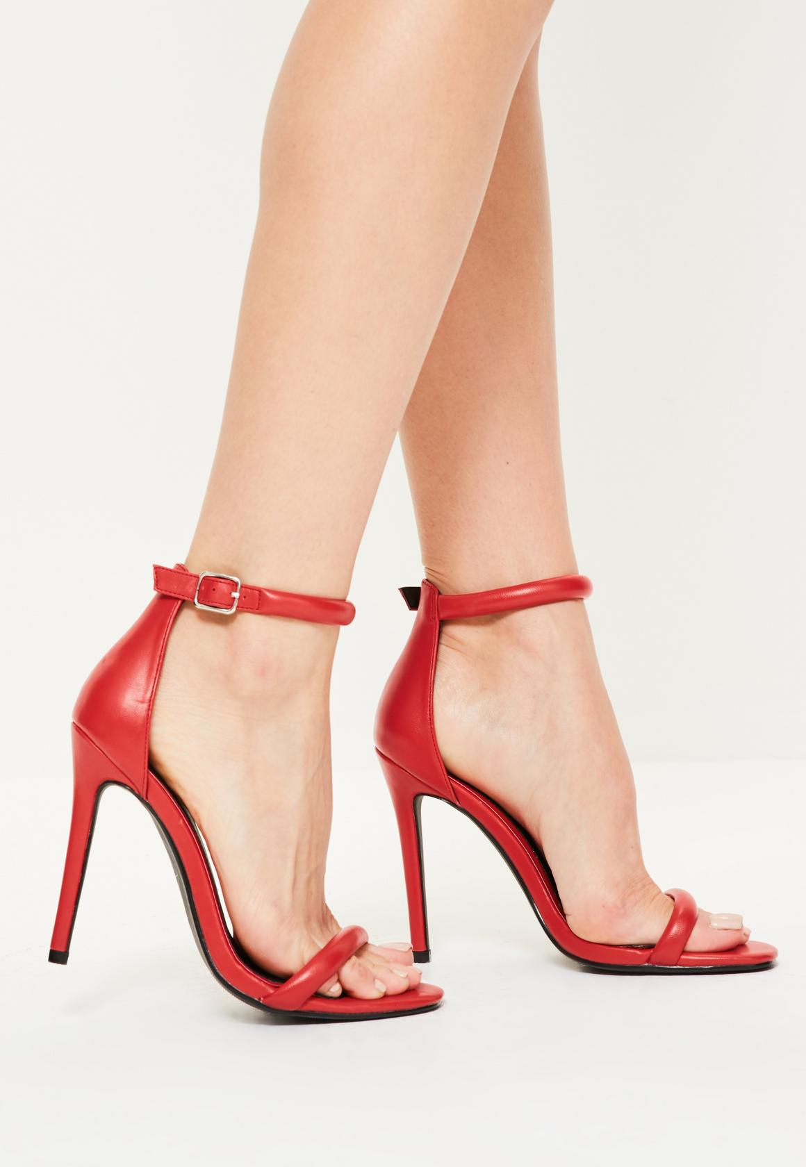 red heels red barely there heels ZOQMAGU