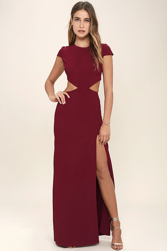 red maxi dress conversation piece wine red backless maxi dress 1 PWSULSW