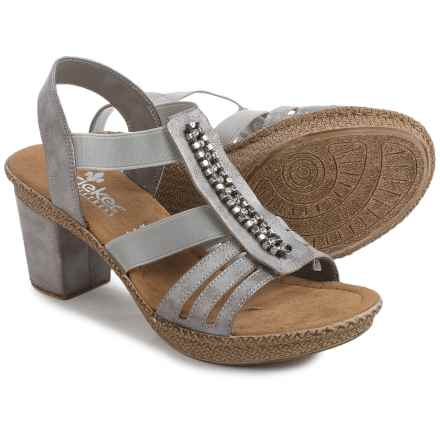 Reiker shoes rieker rabea 84 sandals - vegan leather (for women) in grey - closeouts EKQYHEC
