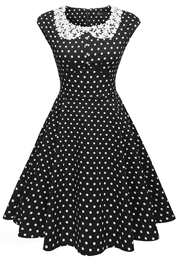 retro dresses 500 vintage style dresses for sale classy polka dot pinup dress $26.50 at  vintagedancer.com UUEPMCJ