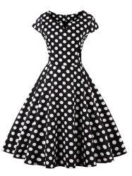 retro dresses polka dot pattern retro style dress CGDQEFK