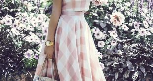 retro fashion check and chic cropped top and skirt set - retro, indie and unique fashion SJHBNTS
