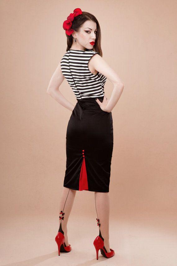 rockabilly clothing striped dress, rockabilly-style WQNRGAI