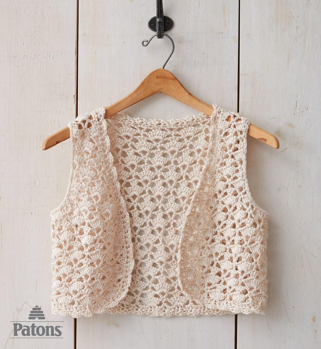 seashell crochet vest KRYHJIP